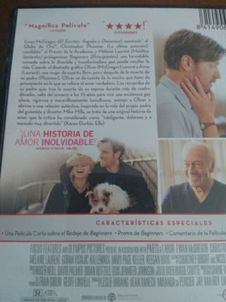 """Cine. DVD """"Beginners"""" (principiantes)"""