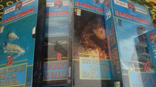 colección VHS El mundo submarino de