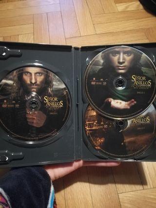 trilogía señor de los anillos DVD