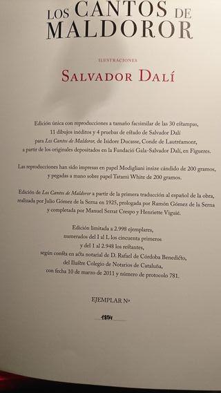 Coleccion de Salvador Dali los CANTOS DE MALDONOR