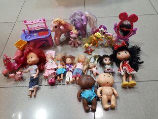 Lote muñecas Barbie, Tarta de Fresa etcc