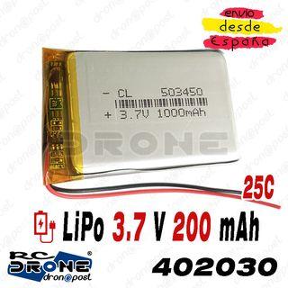 BATERÍA 503450 LiPo 3.7V 1000mAh para teléfono, po
