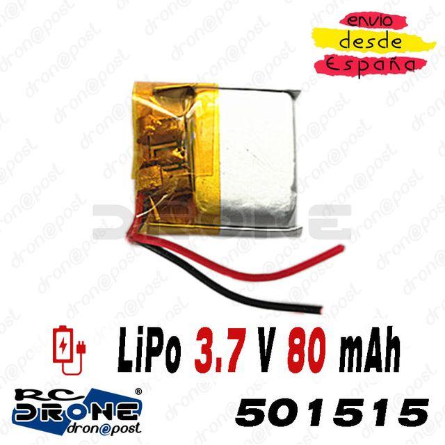 BATERÍA 501515 LiPo 3.7V 80mAh para teléfono, port