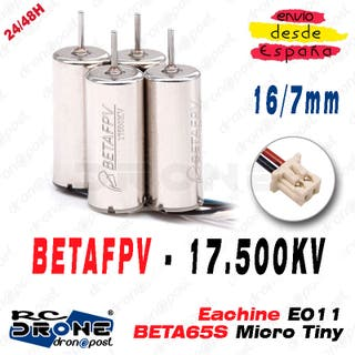 Drone Motor BETAFPV 17500KV 16/7mm BETA65S Micro