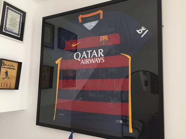 Camiseta firmada FC Barcelona de segunda mano por 499 € en Barcelona ...