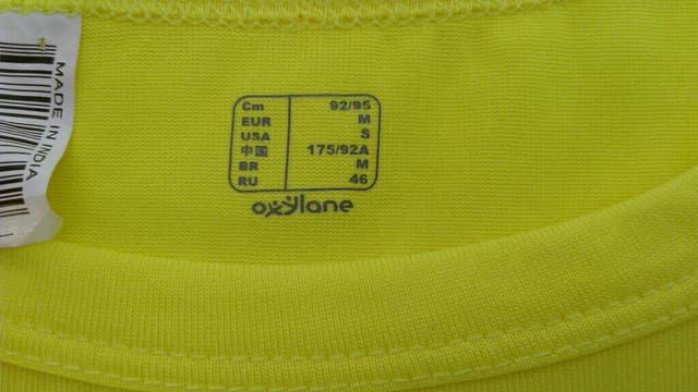 d666dbeae Camiseta amarilla fosforita Domyos Oxylane  Camiseta amarilla fosforita  Domyos Oxylane