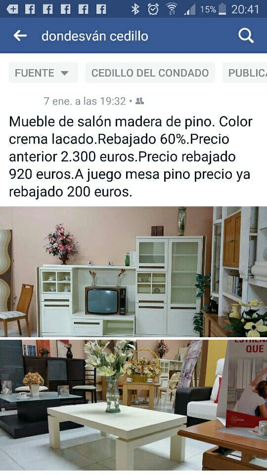 Mueble pino salón de segunda mano por 750 € en Cedillo del Condado ...