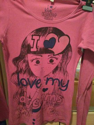 3 camisetas, talla M (manga larga)