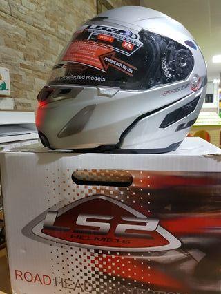 .Casco XS Helmet l52. homologado.plateado