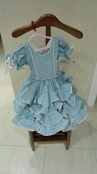 Vestido de flamenca Ana Barroso talla 6-12 meses