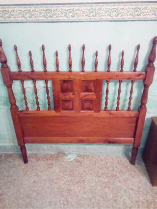 Cabecero cama de madera