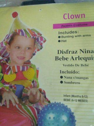 Disfraz infantil payaso 6 meses