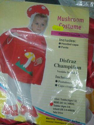 Disfraz infantil champiñón 2 años