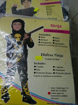 Disfraz infantil ninja 2 años
