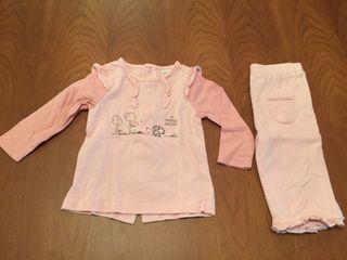 Conjunto pantalón y camiseta 6 meses