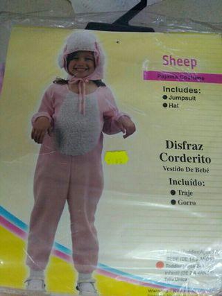 Disfraz infantil oveja rosa