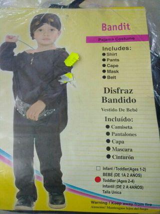 Disfraz infantil bandido 2 años