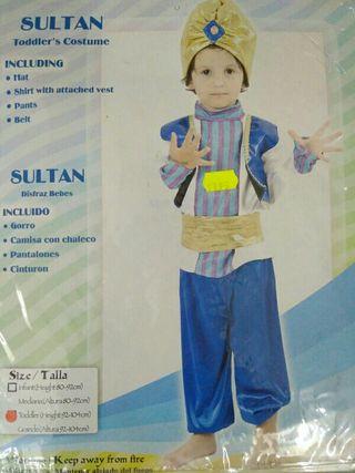 Disfraz infantil sultan 2 años