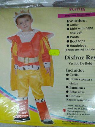 Disfraz infantil rey 2 años