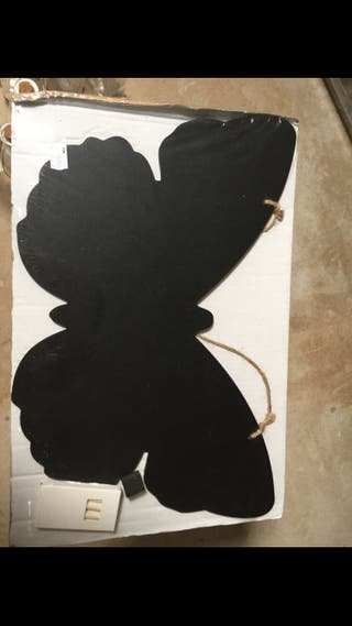 Pizarra mariposa photocall