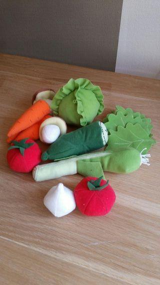 Juego de verduras de tela