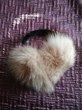Orejeras de pelo de zorro natural