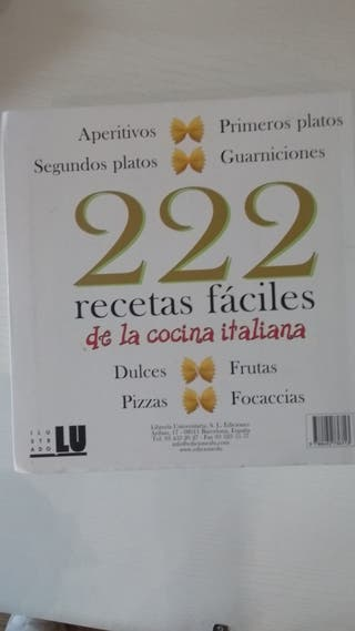 libro recetas faciles cocina italiana