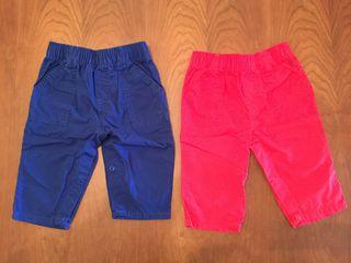 Dos pantalones Prenatal 3-6 meses