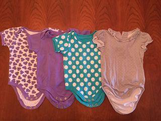 Lote 4 bodys 6-9 meses + regalo body y camiseta