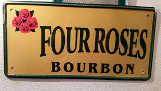 placa FOUR ROSES BOURBON