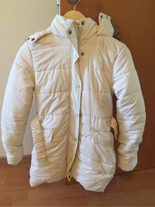 Abrigo blanco. Talla 36