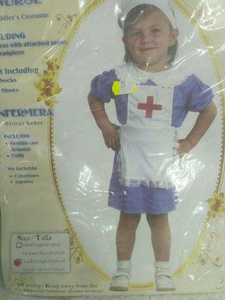 Disfraz infantil enfermera 2 años