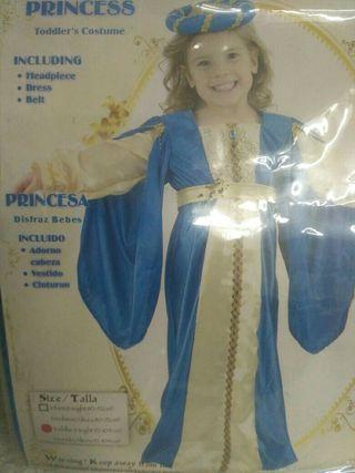 Diafraz princesa infantil 2 años
