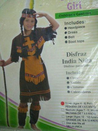 Disfraz india 4 años