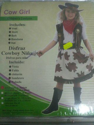 Disfraz infantil vaquera 4 años