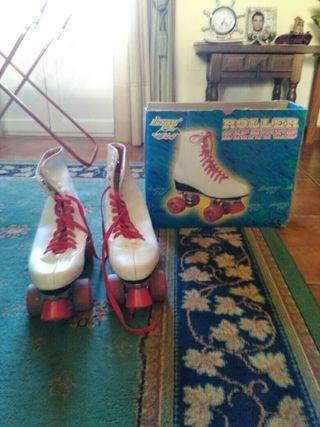 patines de bota de cuatro ruedas