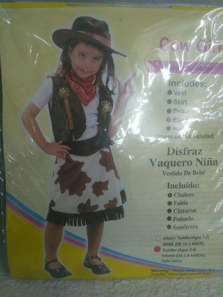 Disfraz infantil vaquera 2 años