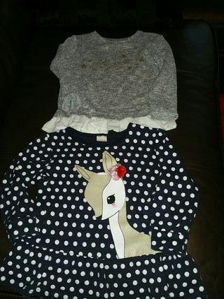 Lote 2 jerseys niña- talla 4-5 años