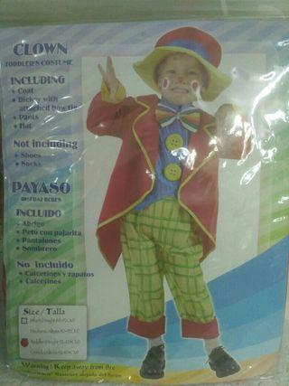 Disfraz infantil payaso 2 años