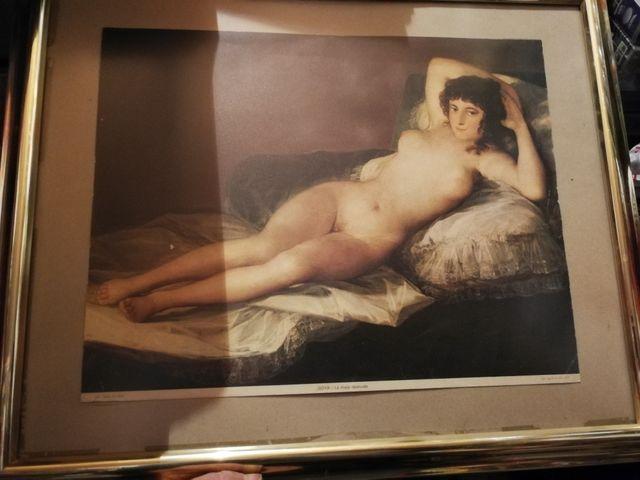 Cuadro Lámina La Maja Desnuda Goya De Segunda Mano Por 20 En Elche