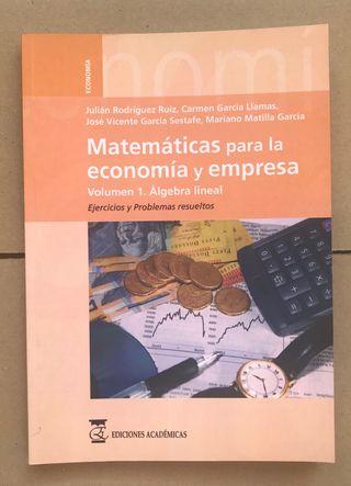 Libro ALGEBRA LINEAL UNED ADE Economía Empresa