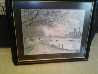 cuadros 2 laminas de motivos de Monet enmarcadas