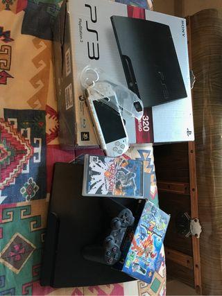 Consola ps3 320gb + psp 2000 + 2 juegos para psp