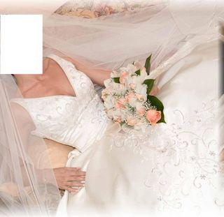 Vestido de novia con cristales de SWASROVSKI