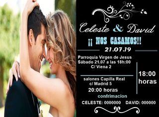 invitaviones de boda elegantes y personalizadas