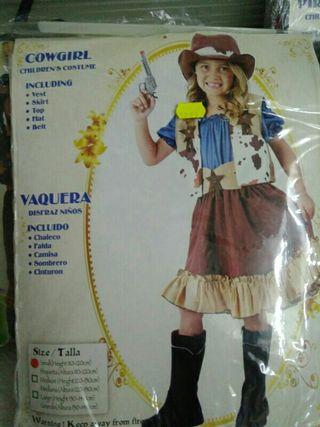 Disfraz niña vaquera 4-5 años.