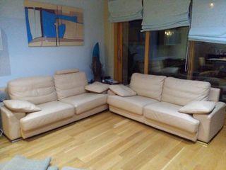 2 sofás de Piel 3 Plazas
