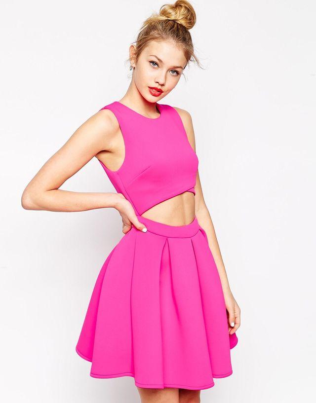 Vestido rosa fucsia ASOS de segunda mano por 30 € en Illescas - wallapop