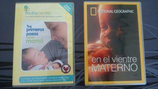 2 dvd: primeros pasos como mama / vientre materno