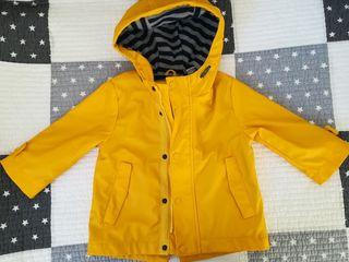 Chubasquero marinero amarillo niño/niña 9-12 meses